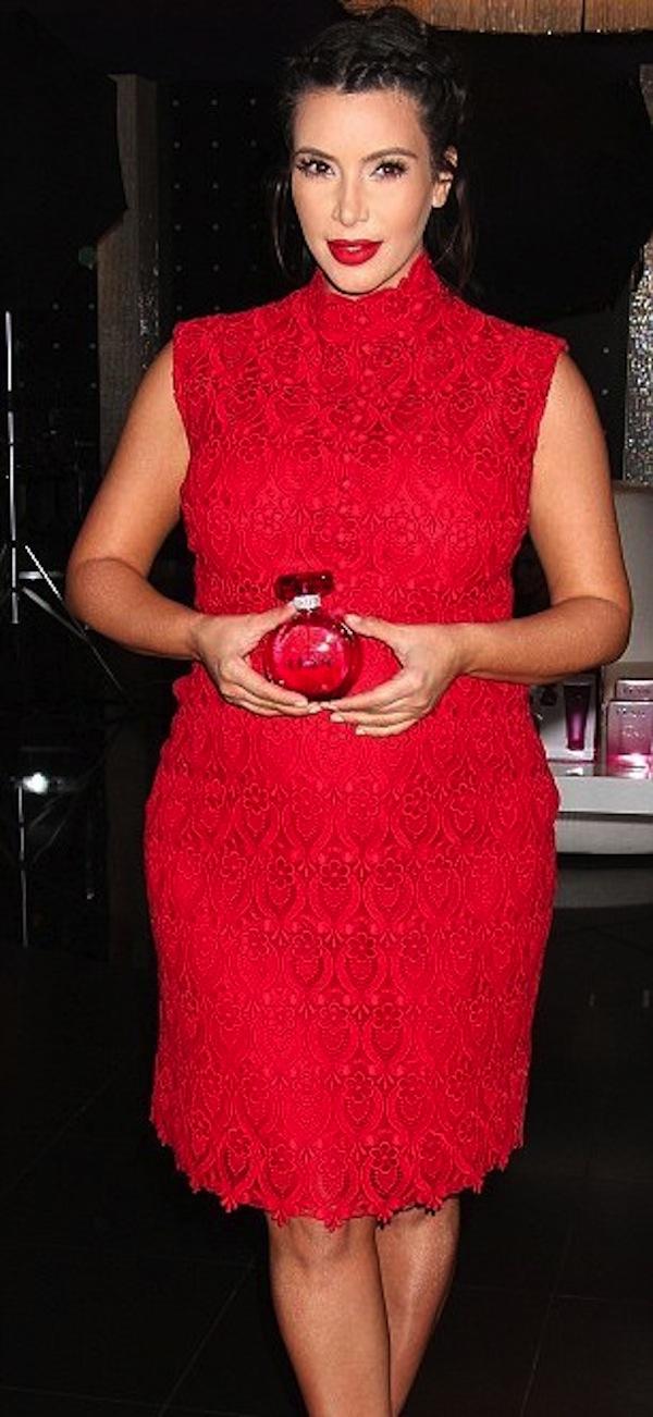 Kim Kardashian preg perfume launch