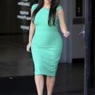 Kim k green dress 1
