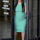 Kim k green dress