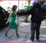 Pregnant Kim Kardashian Heads To The Studio