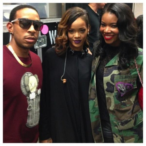 Ludacris Rihanna and Gabrielle Union