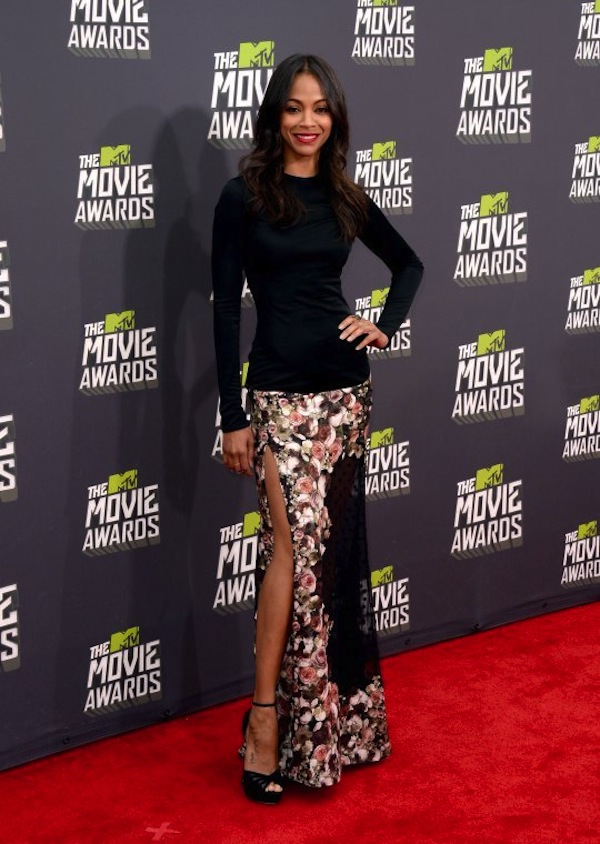 MTV Movie Awards 2013 zoe saldana