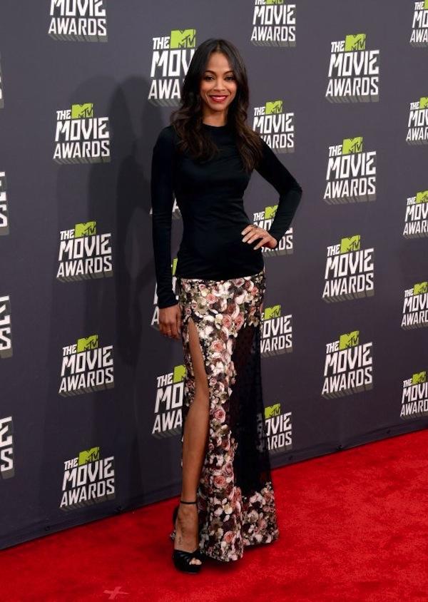 MTV Movie Awards 2013 zoe saldana