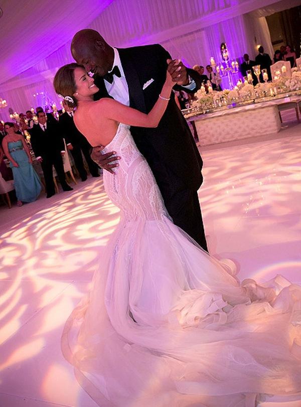 Michael Jordan Yvette Prieto wedding photo