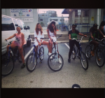 Rihanna 420 biking
