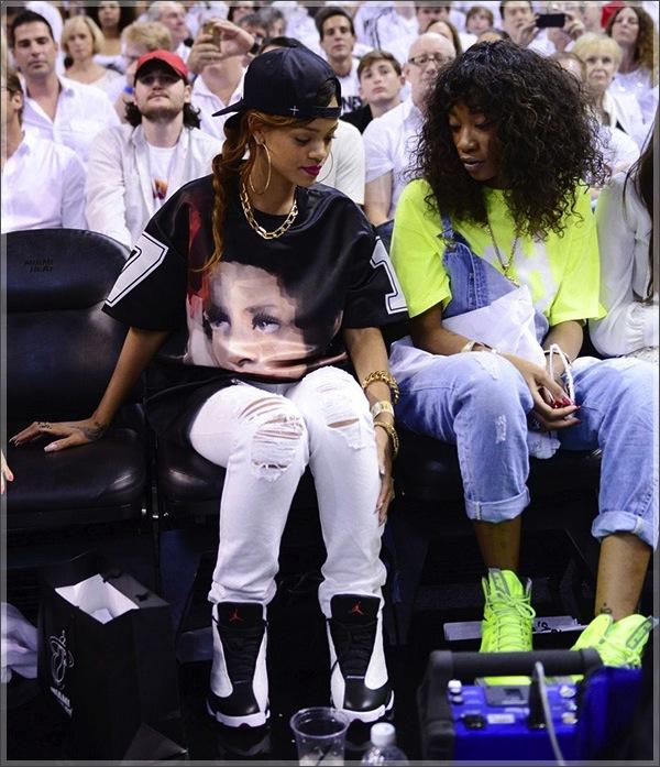 Rihanna BFF Melissa Heats NBA Game