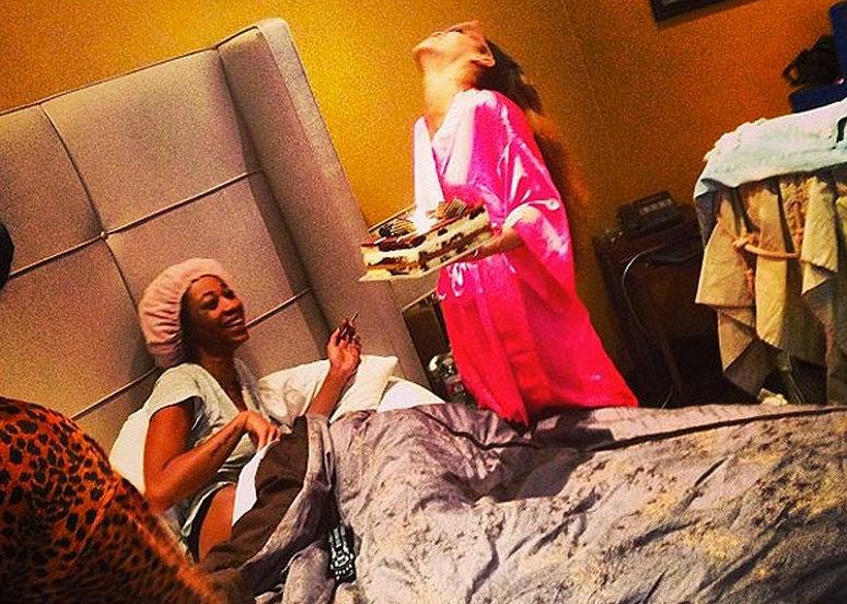 Rihanna and Melissa Forde birthday cake