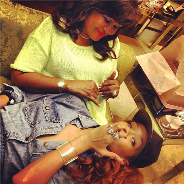 Rihanna and mom fenty photo