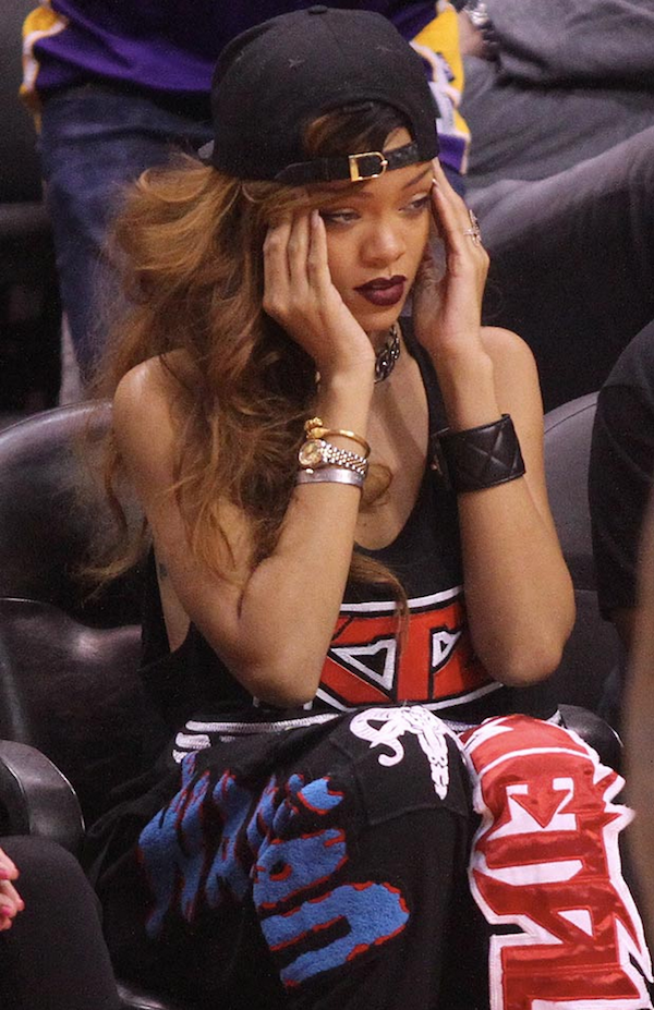 Rihanna at Lakers Clippers Game 2