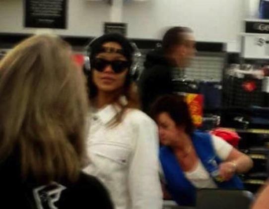 Rihanna at Walmart