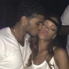 Rihanna mystery man kiss