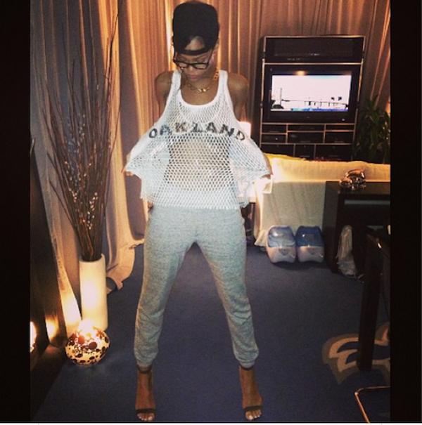 Rihanna oakland mesh shirt