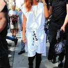 Rihanna white NYC