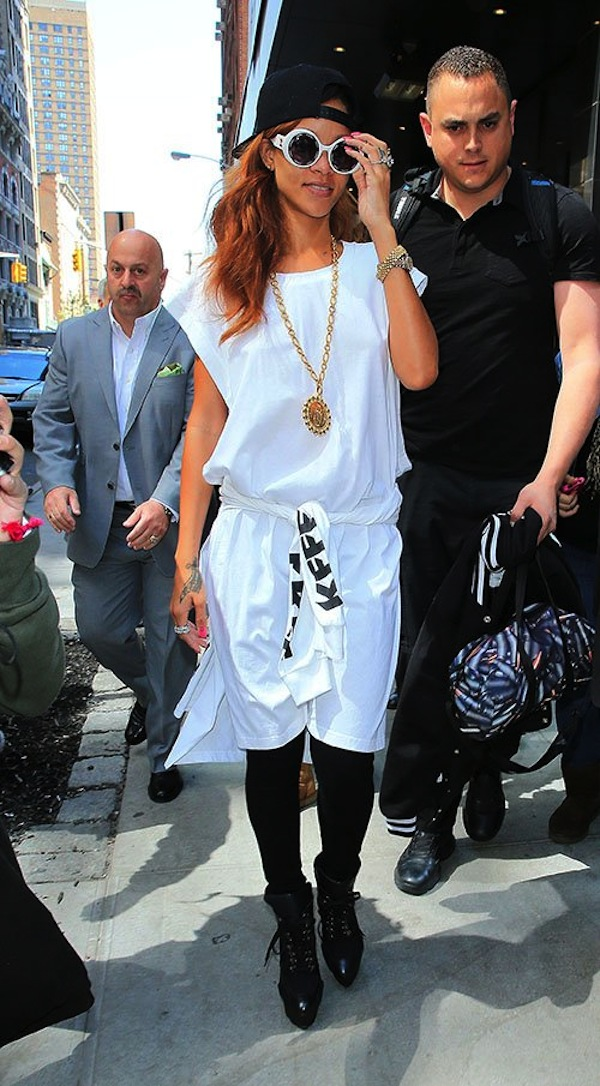 Rihanna white nyc 1