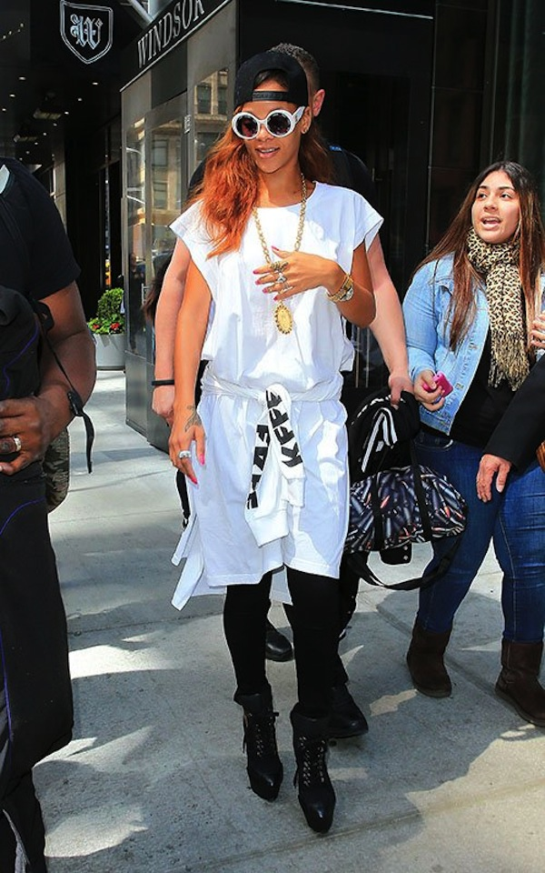 Rihanna white nyc 3
