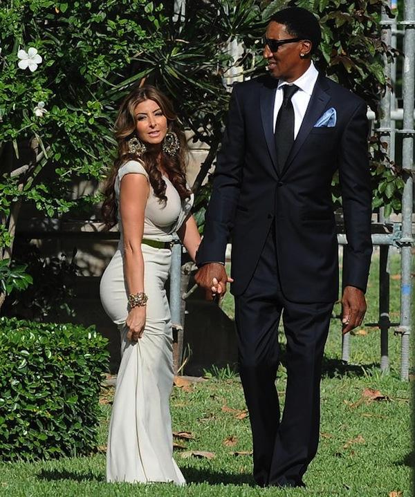 Scottie Pippen at Jordan wedding