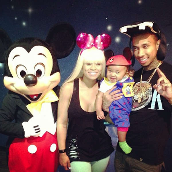 PHOTO: Tyga, Blac Chyna And Son King Cairo Hit Disneyland
