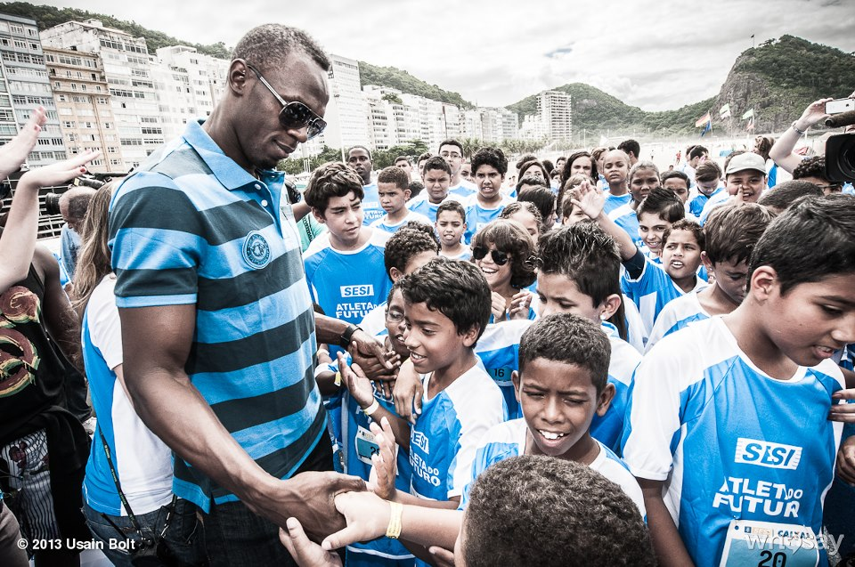 Usain Bolt in Brazil 2
