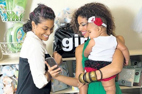 Yendi Phillipps and daughter Isreal McGregor