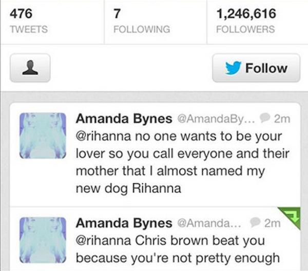 Amanda Bynes twitter rihanna