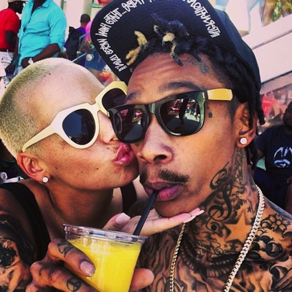 Amber Rose and Wiz Khalifa 2014