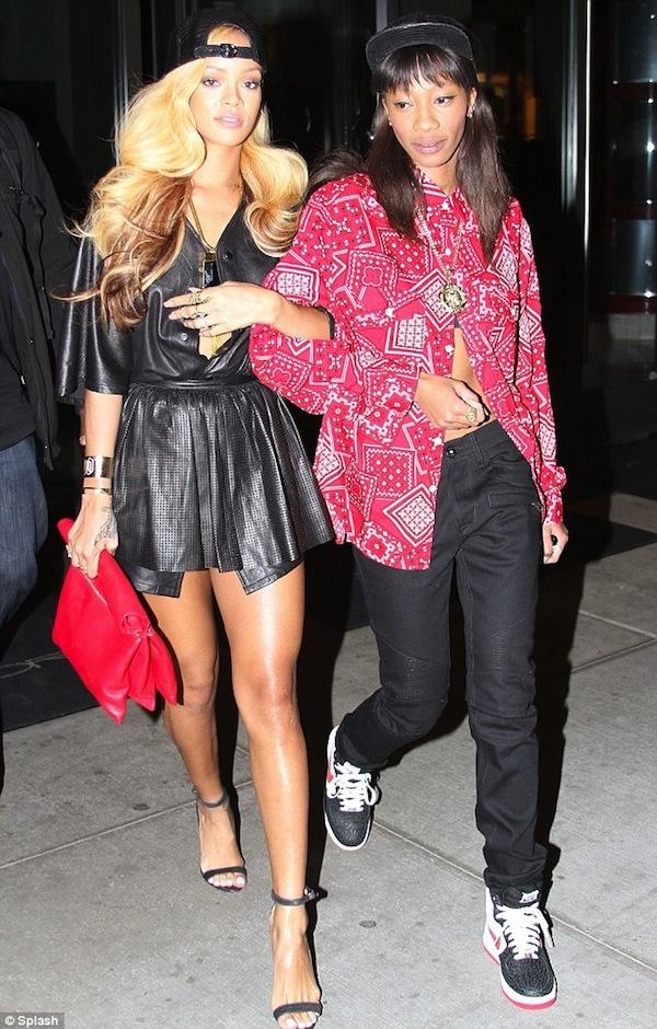 Blonde Rihanna and Melissa