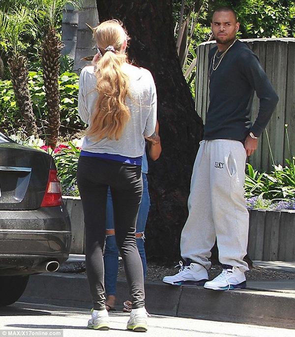 Chris Brown accident scene