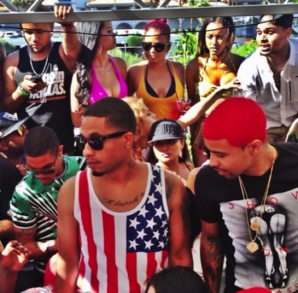 Chris Brown and Kid Red