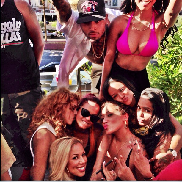 Chris Brown and his girls