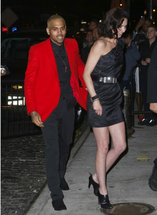 Chris Brown new girlfriend met gala