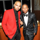 Chris Brown pharrell met gala
