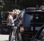 Chris Brown range Rover accident