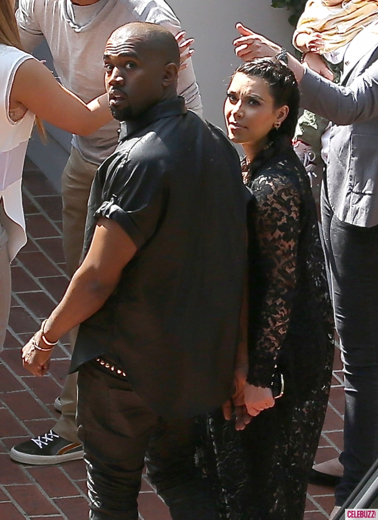 Kanye and kim after head bump