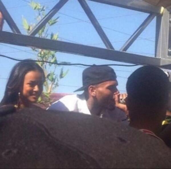 Karrueche and Chris Brown vegas 1