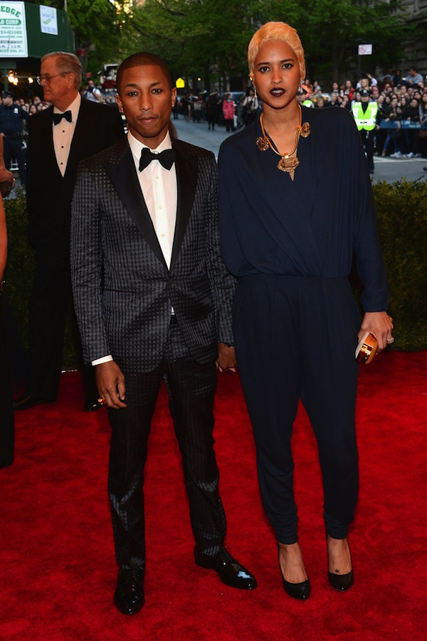 Pharrell Williams and Helen Lasichanh met gala