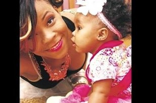 Raine Seville and daughter layla