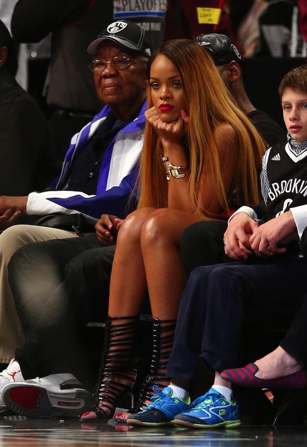Rihanna Nets Game 1