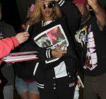 Rihanna arriving at LAX