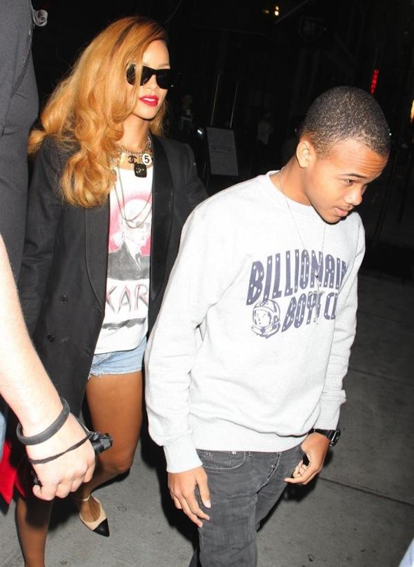 PHOTO: Rihanna Hangs With Little Brother Rajad Post Chris ...