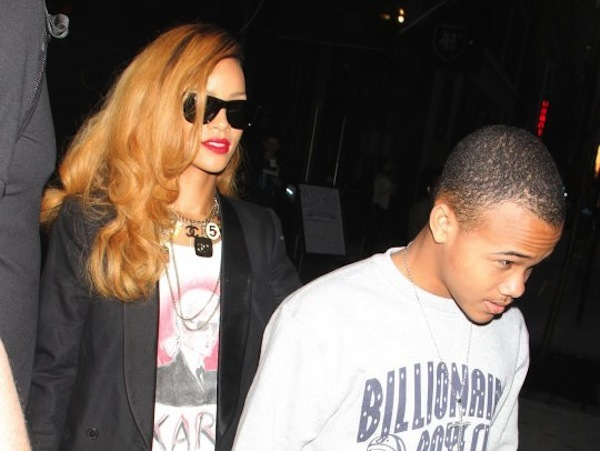 Photo Rihanna Hangs With Little Brother Rajad Post Chris Brown
