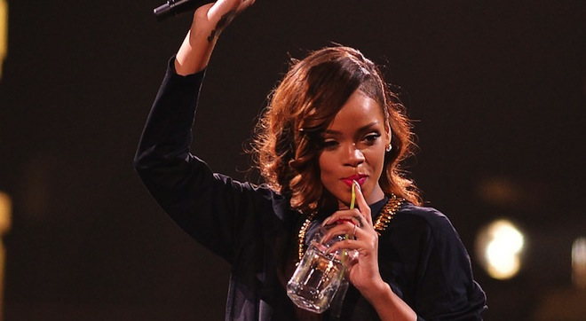Rihanna partying