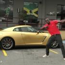 Usain Bold Gold Nissan GT-R photo