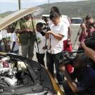 Usain Bolt Gold Nissan GT-R engine