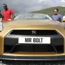 Usain Bolt Nissan Gold GT-R front