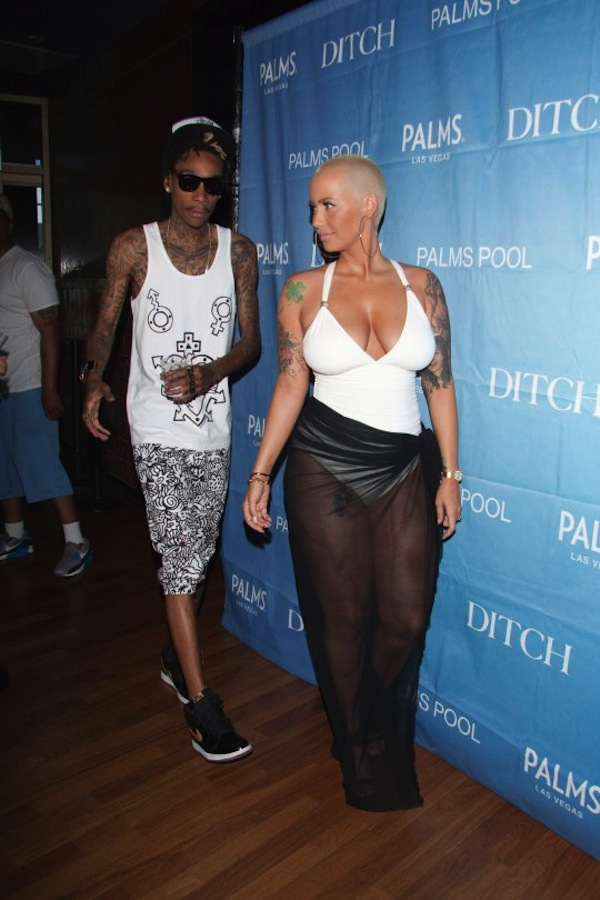 Wiz and Amber Rose bikini