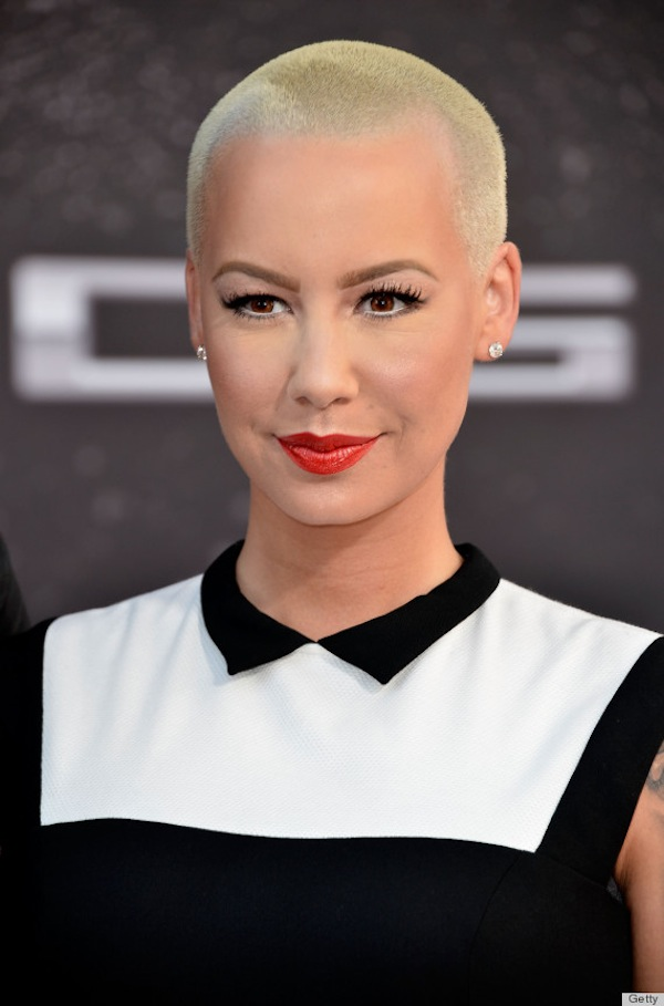 Amber Rose bald blonde hair
