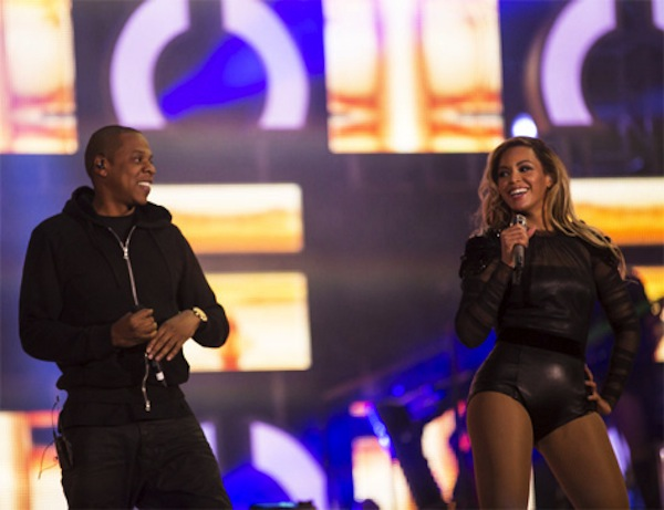Beyonce and Jay-Z chime change