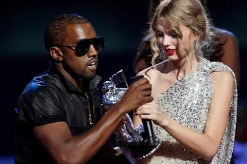 Kanye West interrupt Taylor Swift