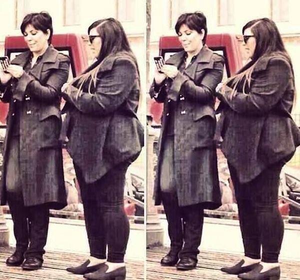 Kim Kardashian fat