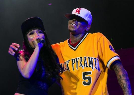 Nicki Minaj and Chris Brown live
